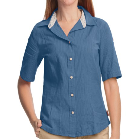Woolrich Rosemary Shirt - UPF 30+, Short Sleeve (For Women) in Light Blue Moon