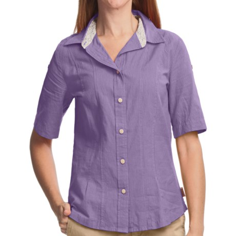 Woolrich Rosemary Shirt - UPF 30+, Short Sleeve (For Women) in Wisteria