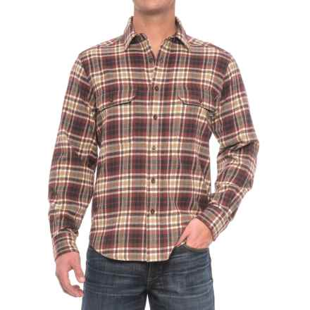 Woolrich Rothrock Flannel Shirt - Long Sleeve (For Men) in Burgundy Plaid - Closeouts