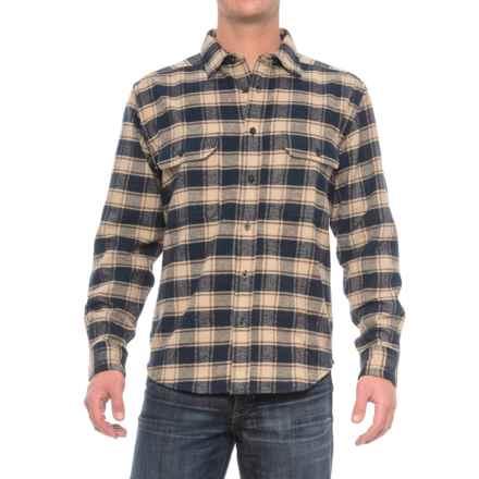 Woolrich Rothrock Flannel Shirt - Long Sleeve (For Men) in Deep Indigo Multi - Closeouts
