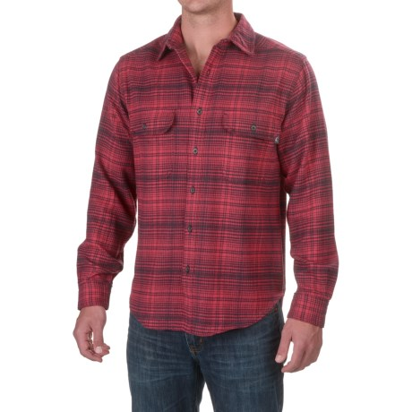 Woolrich Rothrock Flannel Shirt - Long Sleeve (For Men) in Red Plaid