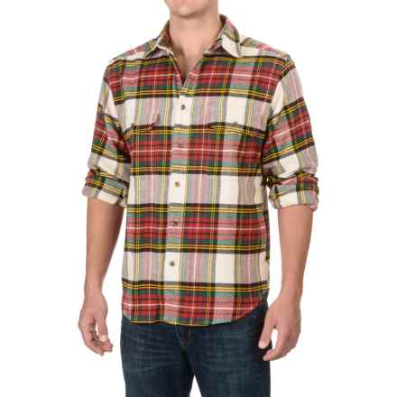 Woolrich Rothrock Flannel Shirt - Long Sleeve (For Men) in Ruby Plaid - Closeouts