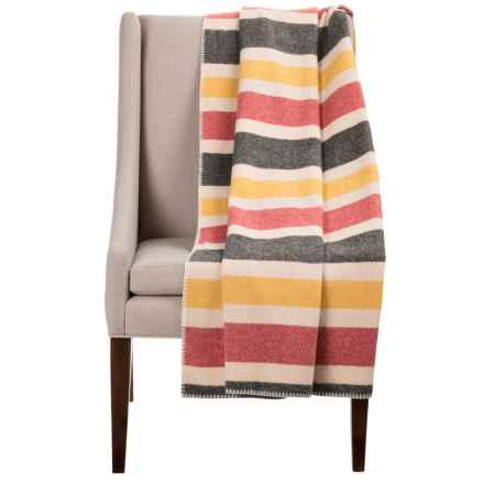"""Woolrich Rough Rider Throw Blanket - Wool Blend, 50x60"""" in Cream/Multi - Closeouts"""