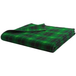 "Woolrich Rough Rider Throw Blanket - Wool Blend, 50x60"" in Green & Black"