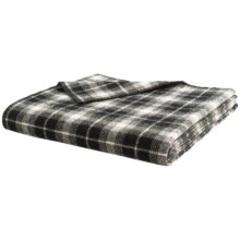 """Woolrich Rough Rider Throw Blanket - Wool Blend, 50x60"""" in White & Black - Closeouts"""