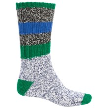 Woolrich Rugby Stripe Ragg Socks - Merino Wool, Crew (For Men) in Black - Closeouts