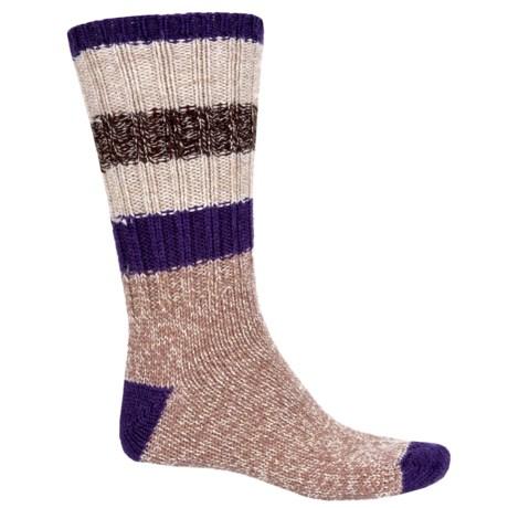 Woolrich Rugby Stripe Ragg Socks - Merino Wool, Crew (For Men) in Quartz