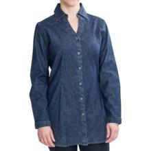 Woolrich Salt Springs Tunic Shirt - Stretch Denim, Long Sleeve (For Women) in Denim - Closeouts