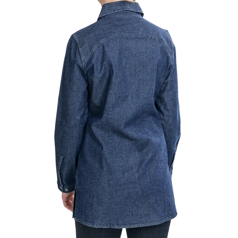 Woolrich salt springs tunic shirt for women 6930n for Womens denim tunic shirt