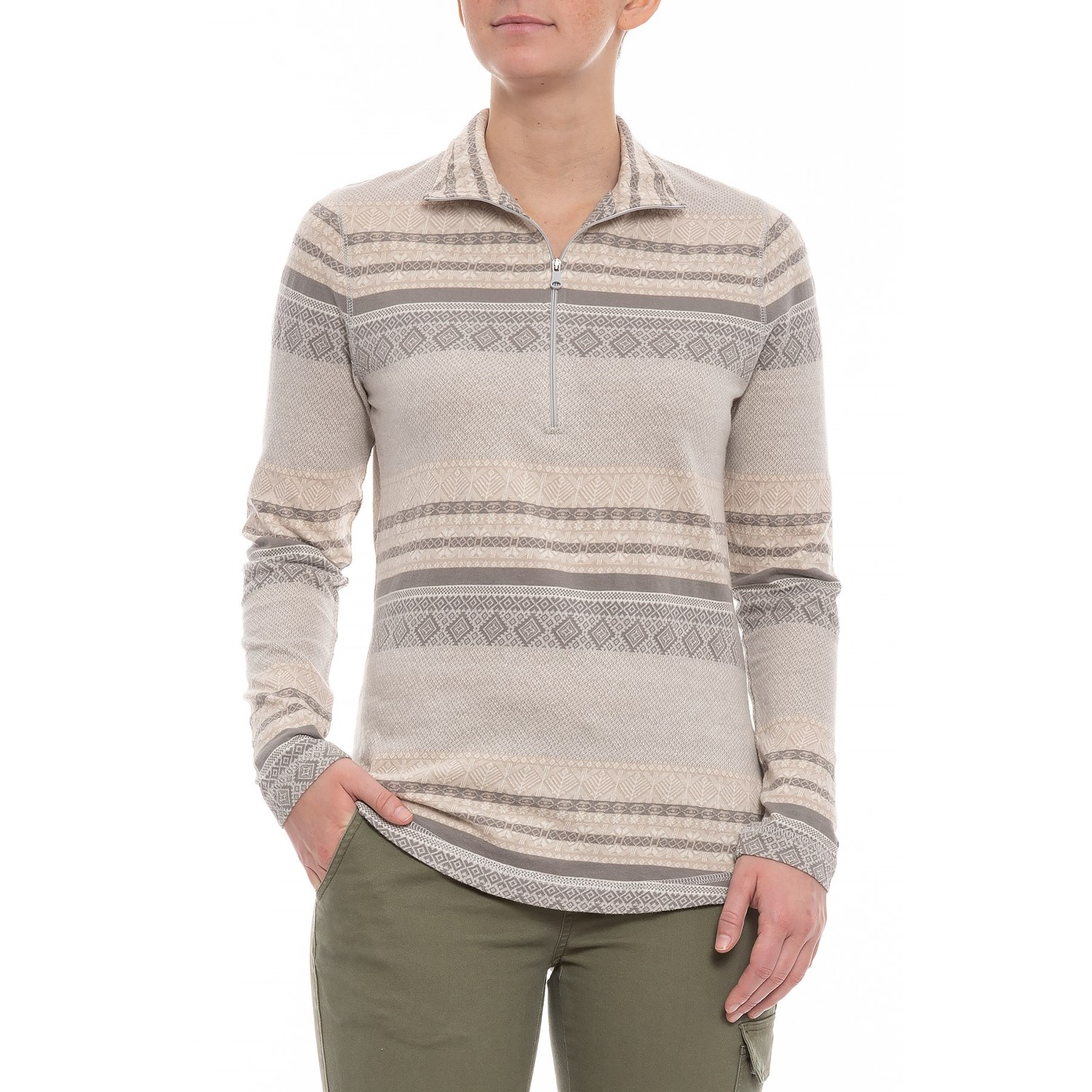 06116198e22 Woolrich Salt Water Grey Mile Run II Shirt (For Women)