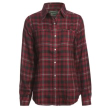 Woolrich Sawyer Shirt Jacket - 8 oz. Brushed Twill (For Women) in Deep Ruby - Closeouts