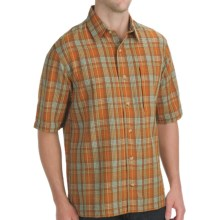 Woolrich Scenic Plaid Shirt - UPF 15+, Organic Cotton, Short Sleeve (For Men) in Pueblo - Closeouts