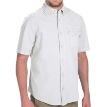 Woolrich Seaport Pigment II Shirt - Short Sleeve (For Men) in White - Closeouts
