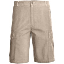 Woolrich Sequence Cargo Shorts - Peached Canvas (For Men) in British Tan - Closeouts