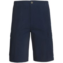 Woolrich Sequence Cargo Shorts - Peached Canvas (For Men) in Deep Indigo - Closeouts