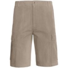 Woolrich Sequence Cargo Shorts - Peached Canvas (For Men) in Khaki - Closeouts