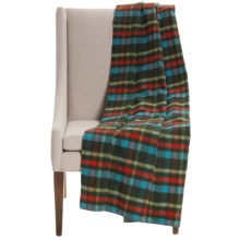 """Woolrich Seven Springs Wool Throw Blanket - 56x70"""" in Olive Plaid - Closeouts"""