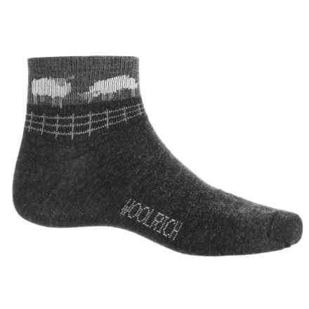 Woolrich Sheep Socks - Merino Wool, Ankle (For Women) in Jet - Closeouts