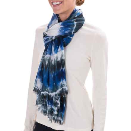 Woolrich Shibori Wrap Scarf (For Women) in Black - Closeouts