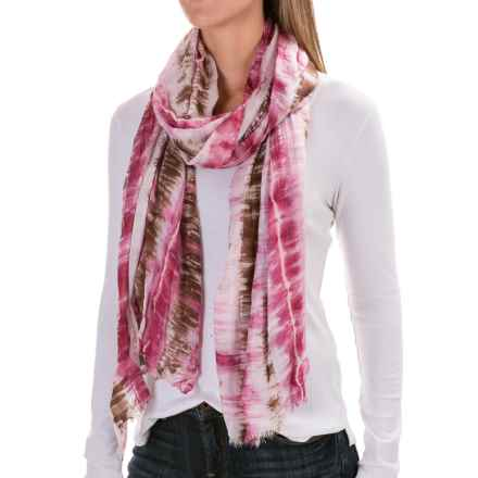 Woolrich Shibori Wrap Scarf (For Women) in Wineberry - Closeouts