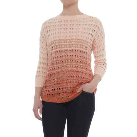 Woolrich Silver Pines Sweater - 3/4 Sleeve (For Women) in Red Ochre Fruit Combo - Closeouts
