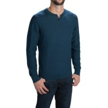 Woolrich Six Mile Sweater (For Men) in Cadet Blue - Closeouts