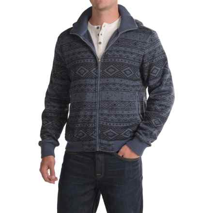 Woolrich Snow Depth Fleece Hooded Jacket (For Men) in Steal Blue - Closeouts