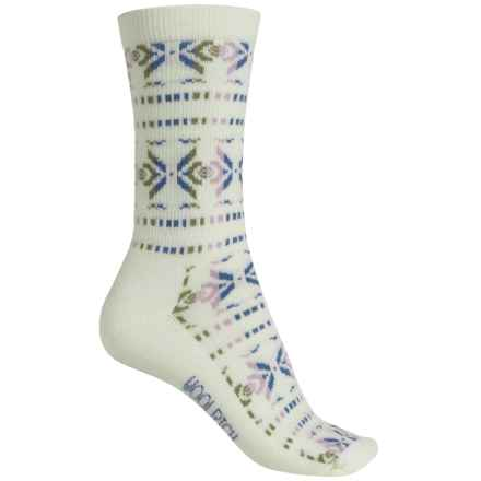 Woolrich Snow Woven Socks - Merino Wool, Crew (For Women) in Natural - Closeouts