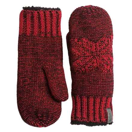 Woolrich Snowfall Valley Mittens - Chenille Fleece Lined (For Women) in Red - Closeouts
