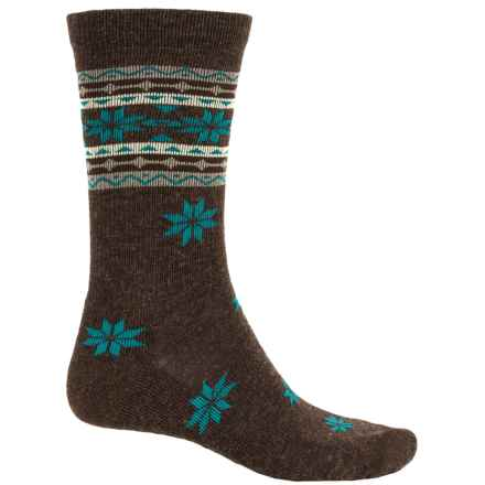 Woolrich Snowflake Socks - Crew (For Men) in Brown - Closeouts
