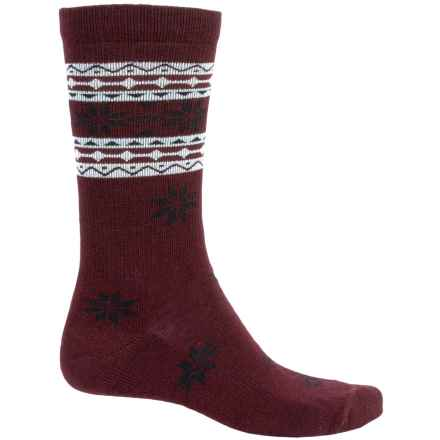 Woolrich Snowflake Socks - Crew (For Men) in Wine - Closeouts