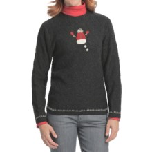 Woolrich Snowman Sweater (For Women) in Onxy Heather - Closeouts