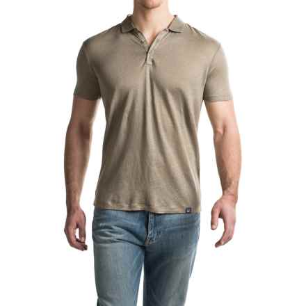 Woolrich Solid Linen Polo Shirt - Short Sleeve (For Men) in Bungee Cord - Closeouts