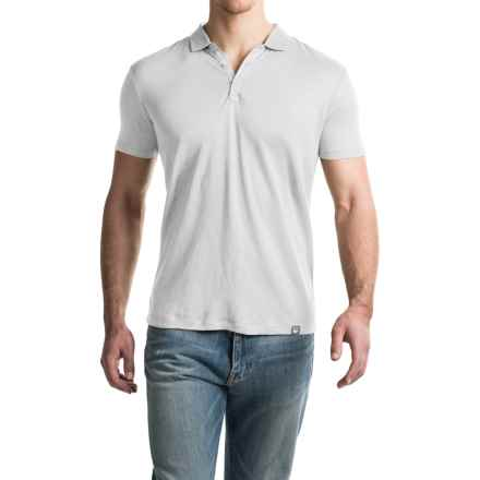 Woolrich Solid Linen Polo Shirt - Short Sleeve (For Men) in Optic White - Closeouts