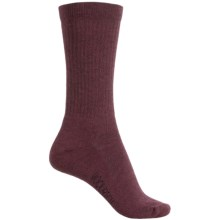 Woolrich Solid Rib Socks - Merino Wool Blend, Crew (For Women) in Wine - Closeouts