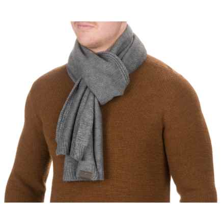 Woolrich Solid Scarf (For Men) in Gray Heather - Closeouts