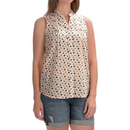 Woolrich Somerset Printed Shirt - Sleeveless (For Women) in Linen - Closeouts