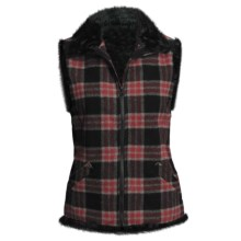 Woolrich Somerton Vest - Faux-Fur Lining (For Women) in Red/Black Plaid - Closeouts