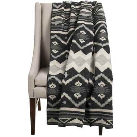 "Woolrich Somerton Wearable Throw Blanket/Poncho - 50x70"", Wool Blend in Charcoal - Closeouts"
