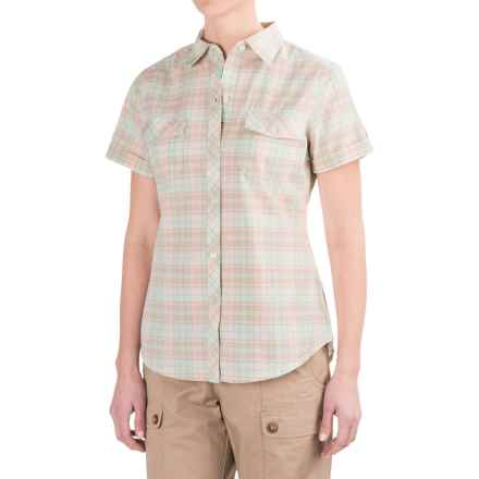 Woolrich Spoil Her Shirt - Short Sleeve (For Women) in Peachtree - Closeouts