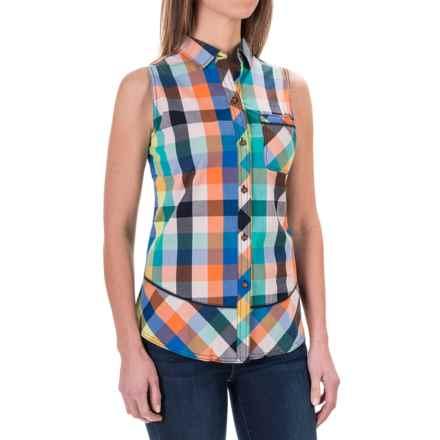 Woolrich Spoil Her Shirt - Sleeveless (For Women) in Deep Indigo Multi - Closeouts