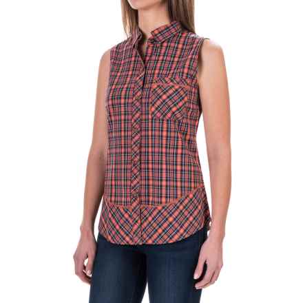 Woolrich Spoil Her Shirt - Sleeveless (For Women) in Guava - Closeouts