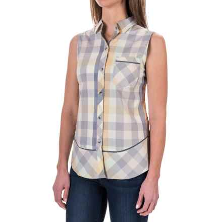 Woolrich Spoil Her Shirt - Sleeveless (For Women) in Smokey Gray Multi - Closeouts