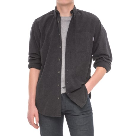 Woolrich Sportsman Chamois Shirt - Long Sleeve (For Men) in Dark Charcoal Heather