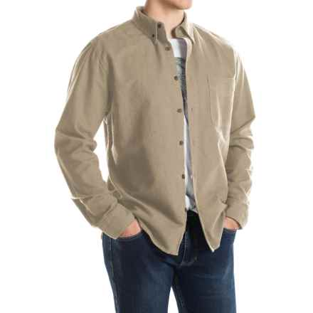 Woolrich Sportsman Chamois Shirt - Long Sleeve (For Men) in Khaki Heather - Closeouts