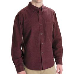 Woolrich Sportsman Chamois Shirt - Long Sleeve (For Men) in Oatmeal Heather