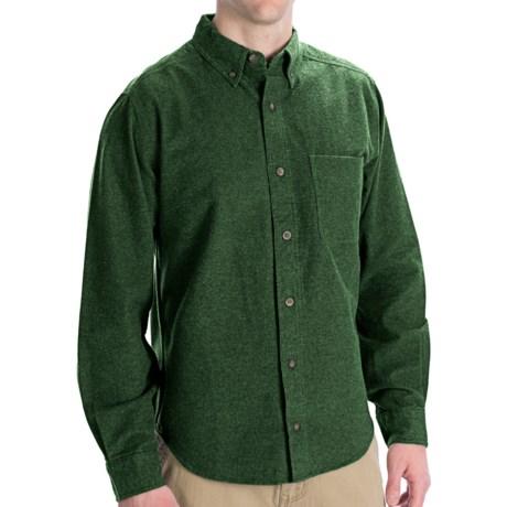 Woolrich Sportsman Chamois Shirt - Long Sleeve (For Men) in Spruce Heather