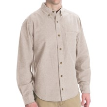 Woolrich Sportsman Chamois Shirt - Long Sleeve (For Tall Men) in Oatmeal Heather - Closeouts