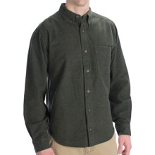 Woolrich Sportsman Chamois Shirt - Long Sleeve (For Tall Men) in Olive Heather - Closeouts