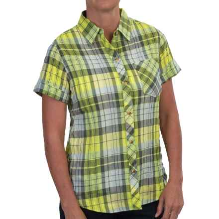 Woolrich Spring Fever Shirt - Short Sleeve (For Women) in Lemongrass - Closeouts